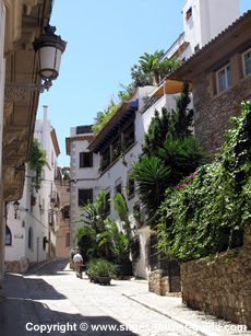 A street in Sitges Old Town