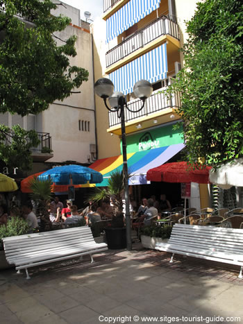 A Photo Of Parrots Bar In Sitges Gay Bar In The Town Centre