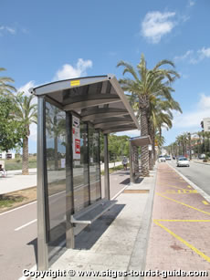 Bus Stop in Sitges