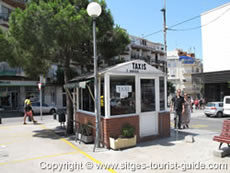 Taxi Rank outside Sitges Train Station